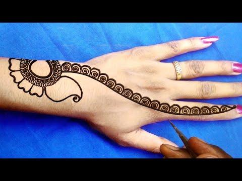 मेहंदी डिजाइन लगाना सीखे-आसान अरेबीक मेहंदी लगाना सीखे-new Arebic Backhand Mehndi Design