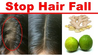 Surprising Super Fast Stop Hair Fall !! Grow Long and Thicken Hair Faster With Ginger