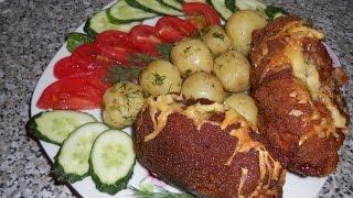 Простые рецепты, котлеты по киевски/Simple recipes, cutlets on Kiev