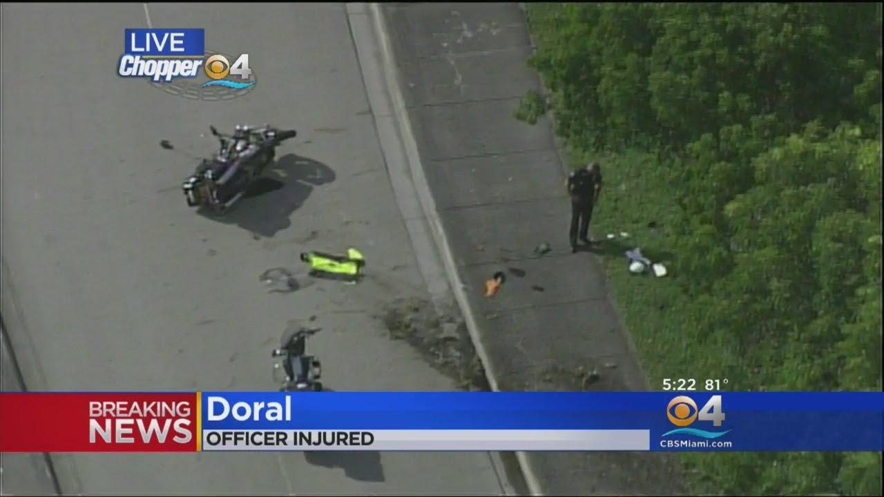 Doral Motorcycle Police Officer Hospitalized After Crashing