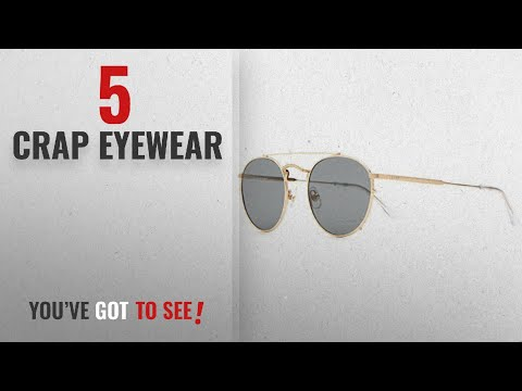 Crap Eyewear Sunglasses Collection: Crap Eyewear The Tuff Safari Sunglasses - Brushed GoldCrystal