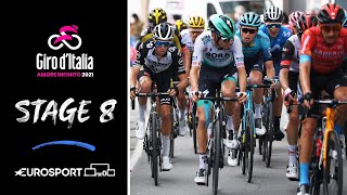 Giro d'Italia 2021 - Stage 8 Highlights | Cycling | Eurosport