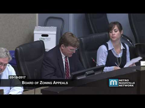 05/18/2017 Board of Zoning Appeals