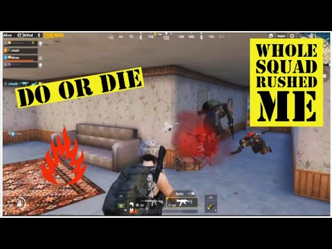 DO OR DIE SITUATION || SQUAD RUSH || NO LUCK || PUBG MOBILE GAMEPLAY