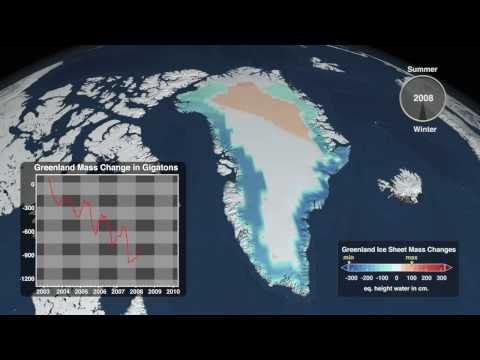 Greenland Ice Sheet Mass Changes (2003-2009) [720p]