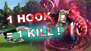Dota 2 Tricks: 1 lvl HOOK = FIRST BLOOD!
