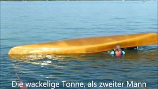 Kenterübungen 2, Selbstrettung, Kanu, Canadier, Open Canoe ,Self Rescue, Deep Water,