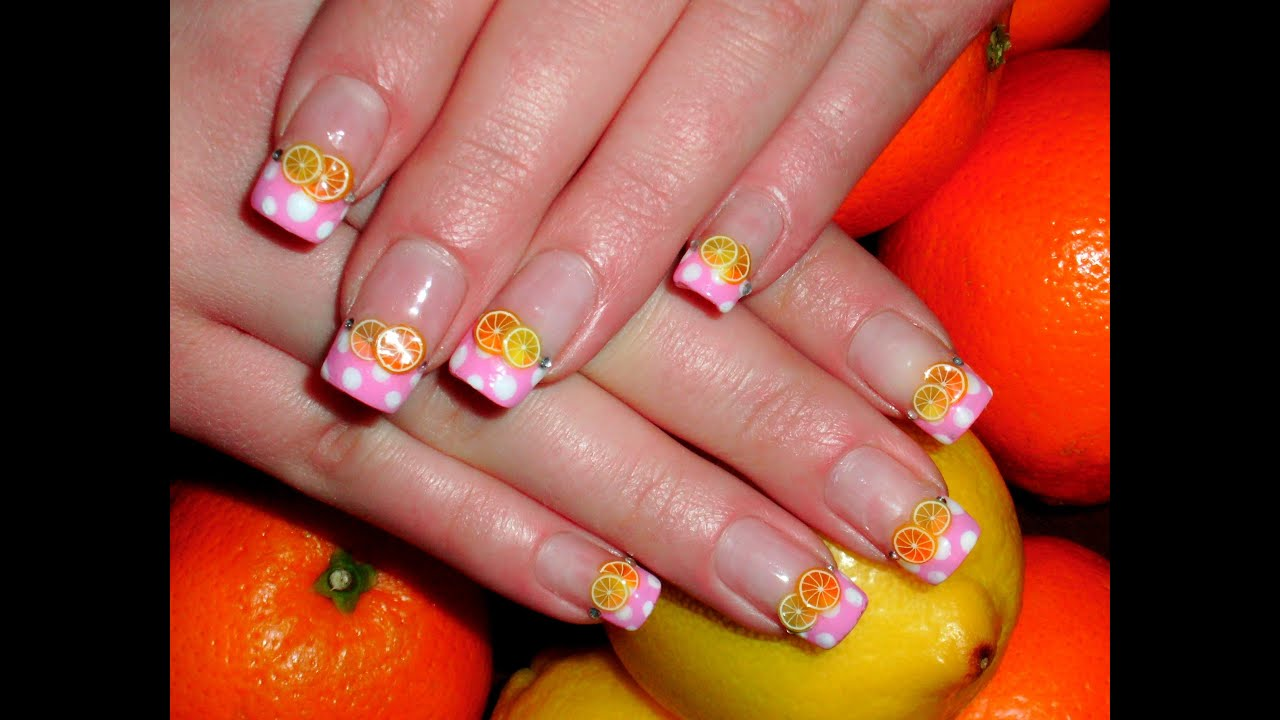 candy fruit nails fimo fr chte nageldesign selber machen tutorial youtube. Black Bedroom Furniture Sets. Home Design Ideas