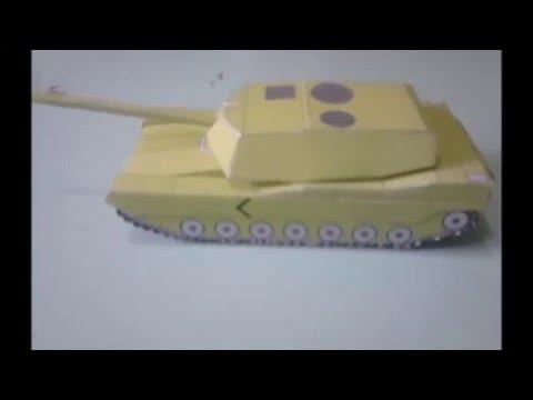 Papercraft Maquete em papel do tanque M1 Abrams/ M1 Abrams paper model