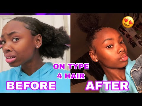 top-knot-bun-tutorial-on-4b/4c-hair-(easiest-method)