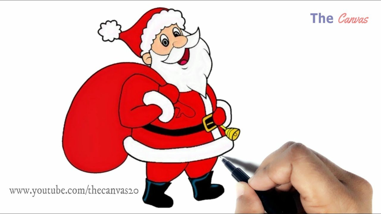 kids christmas drawing how to draw easy santa claus step by step youtube kids christmas drawing how to draw easy santa claus step by step