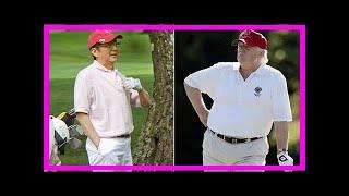 Breaking News | Trump will play golf in japan with shinzō abe during nov. trip