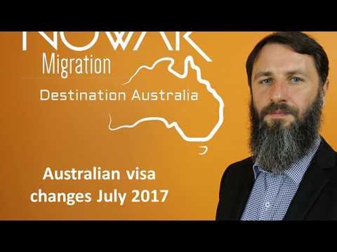 Australian visa changes July 2017