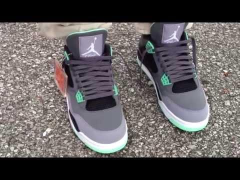 4f25e8a28a090c Air Jordan 4 IV Retro  Green Glow  on feet