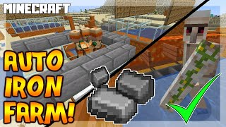 MINECRAFT | How to Make an IRON FARM! Automatic 1.16.1 - Nether Update