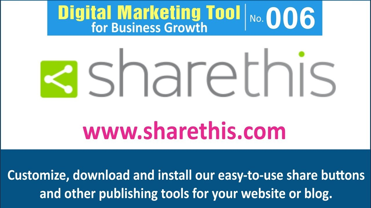 Digital Marketing Tool for Business Growth [006] | ShareThis – Free share buttons