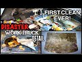 Deep Cleaning A DISASTER Repo Work Truck! | INSANE Detailing Transformation | First Clean In Years!
