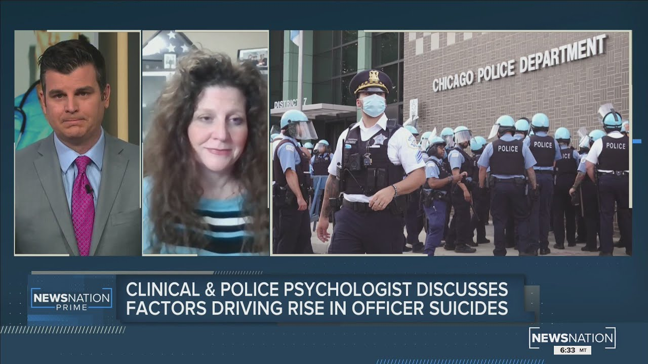 Dr. Carrie Steiner's interview with NewsNation about factors causing rise in officers suicides