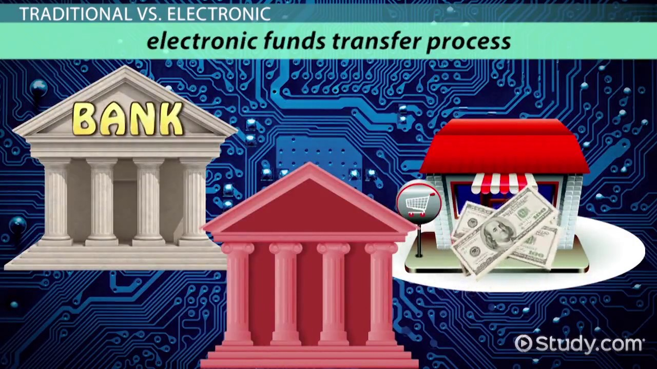What Is An Electronic Funds Transfer Definition Process Benefits Video Lesson Transcript
