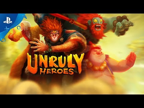 Unruly Heroes on PS4 for May 28! 🐵