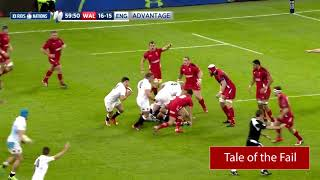 TALE OF THE FAIL - James Haskell smashes into the post in the 2015 Six Nations