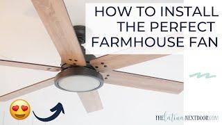 SUNROOM PROGRESS |  Our new Hunter Ceiling Fan | How to Install a Fan