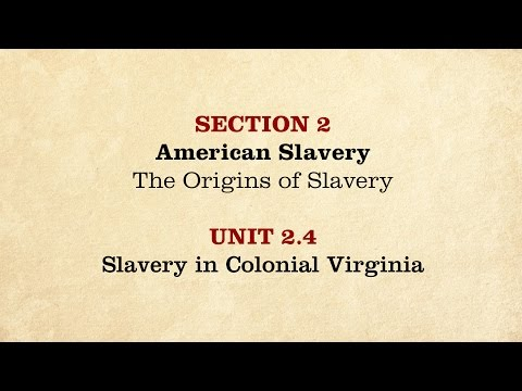 MOOC | Slavery in Colonial Virginia | The Civil War and Reconstruction, 1850-1861 | 1.2.4