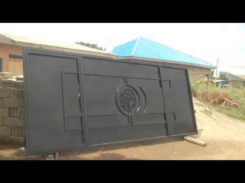 Building in Ghana Part 4 || Gate Installation ||