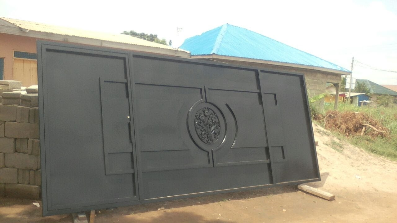 Building In Ghana Part 4 Gate Installation Youtube
