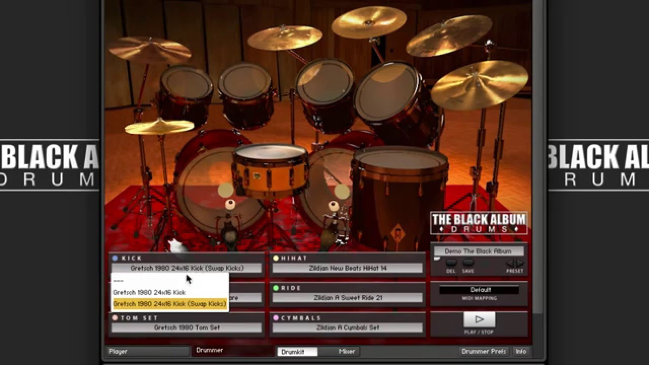 The Black Album Drums (BFD3 & Kontakt) — Chocolate Audio