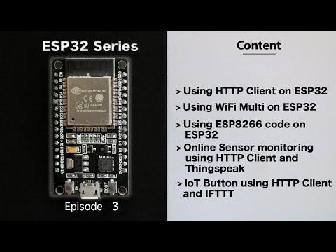 [E-3]ESP8266 codes on ESP32 | HTTP Client | WiFi Multi | IoT Button | Data Monitoring | ESP32 Series