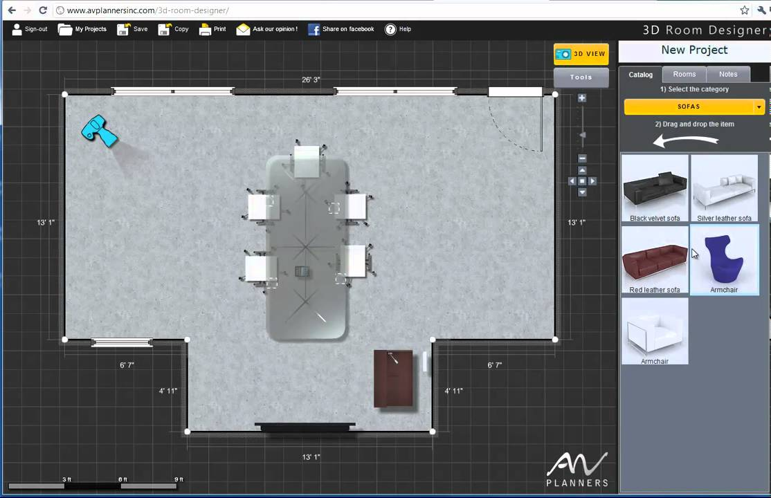 Av Planners 3d Room Designer Youtube