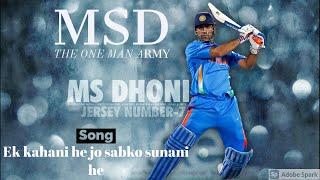 Ek kahani he jo sabko sunani he | Song tribute to MSD | carryminati song yalgar
