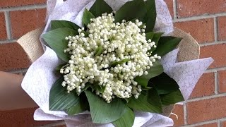 Lilies of the Valley Hand Tied Bouquet DIY Tutorial