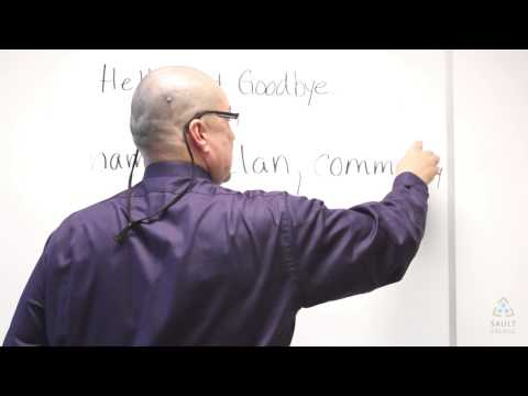 lets start Ojibwe - Lesson 2, Hello Goodbye