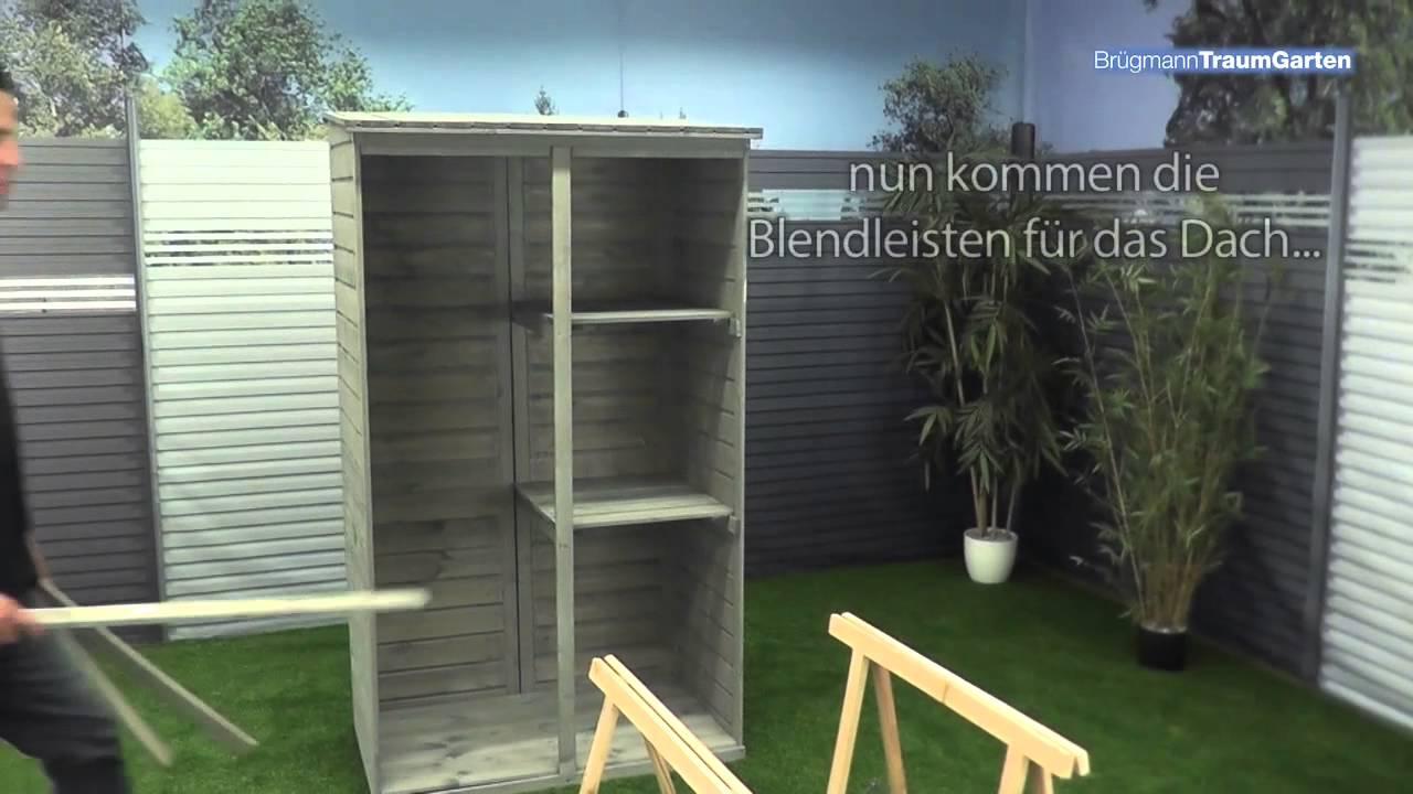 aufbau traumgarten neo gartenschrank - tipps und tricks - youtube