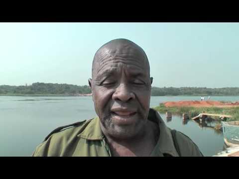 Murchison Falls National Park, Uganda performance of safari guide George