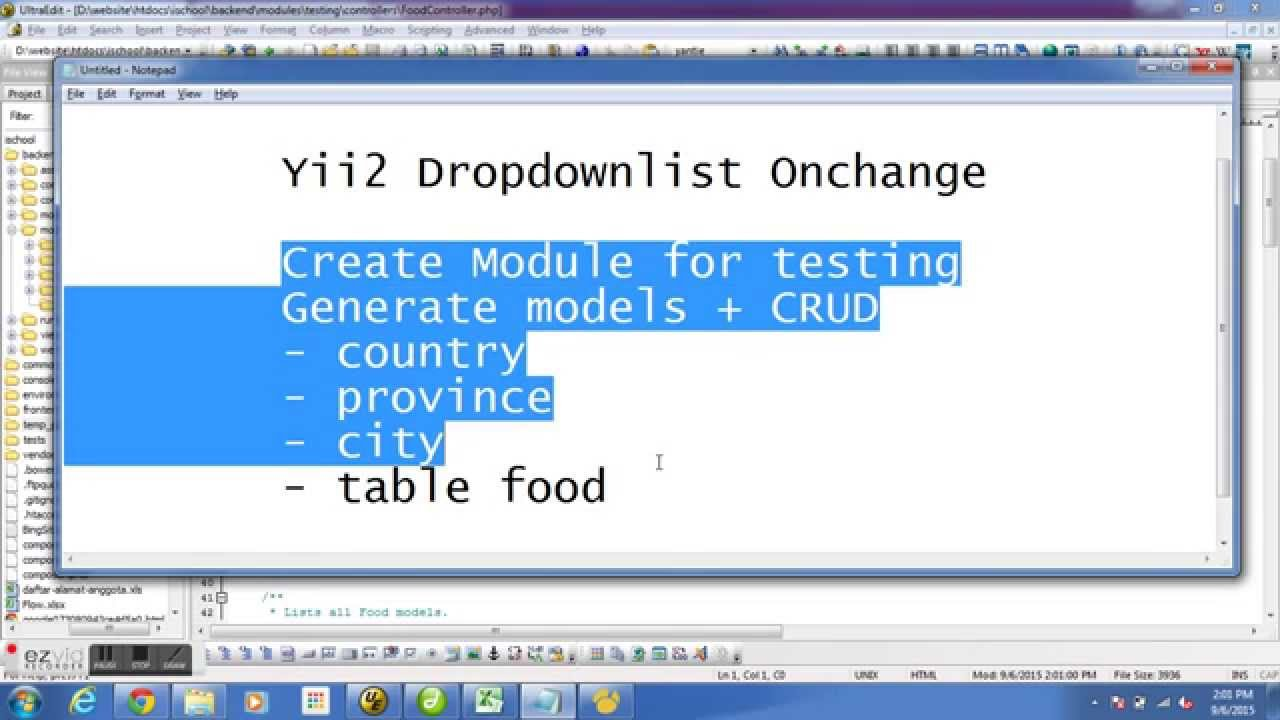 Yii2 Dropdownlist Onchange With No Extension - Education Video