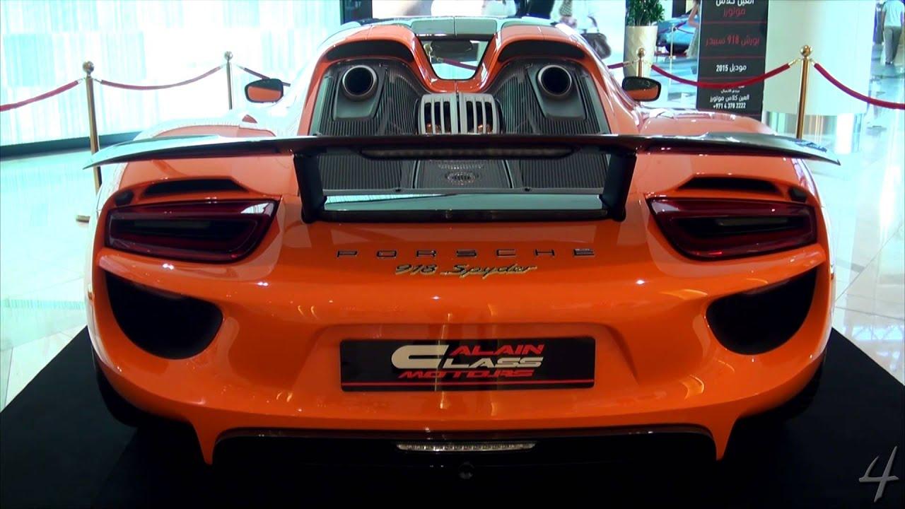 orange porsche 918 spyder inside a mall youtube. Black Bedroom Furniture Sets. Home Design Ideas