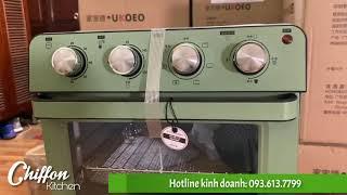 [Chiffon Kitchen] Lò chiên không dầu UKOEO T35 khác lò nướng thế nào?