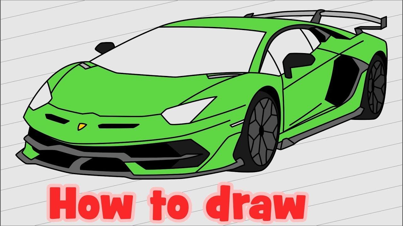 How To Draw Lamborghini Aventador Svj