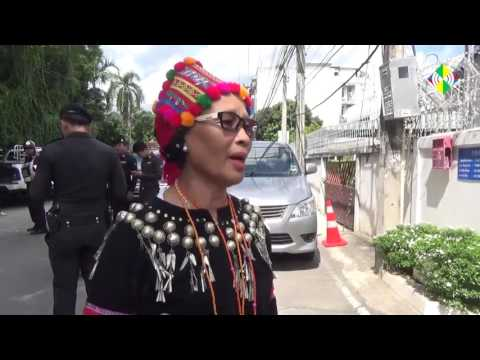 Kachin in Thailand Protest against Burma Army