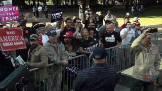 Trump Supporters in Virginia Beach Shout Down CNN
