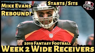 2019 Fantasy Football Advice - Week 2 Wide Receivers - Start or Sit? Every Match Up
