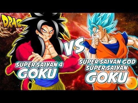 Dragonball Z: What If Battle - SSGSS Goku Vs SSJ4 Goku
