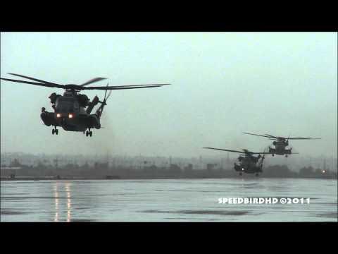 U.S. Marine CH-53E Super Stallion CLOSE UP Landing