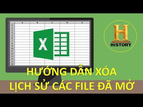 Hướng dẫn xóa lịch sử các file excel đã mở (xóa danh sách recent document trong excel)