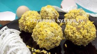 Шарики из печени с начинкой - оригинальная закуска на праздничный стол