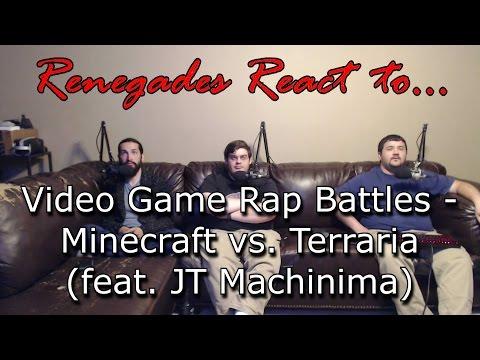 Renegades React to... Video Game Rap Battles - Minecraft vs. Terraria (feat. JT Machinima)