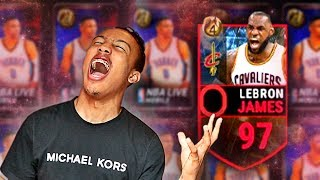 NEW! 97 LeBron, 1MILL Pack Opening... NBA FINALS Rigged?? (NBA LIVE MOBILE)